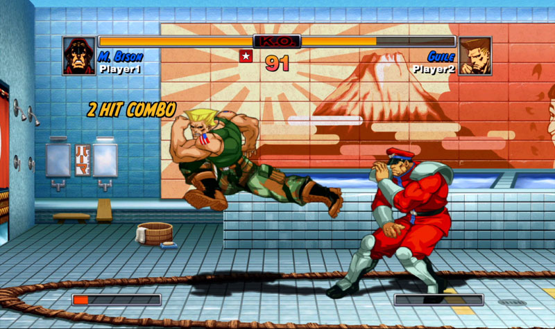 Le superbe Street Fighter II HD Remix.