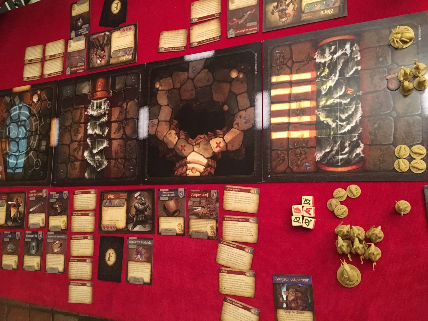 Mice and Mystics Le Coeur de Glorm : il vous faudra faire un peu de place sur la table !