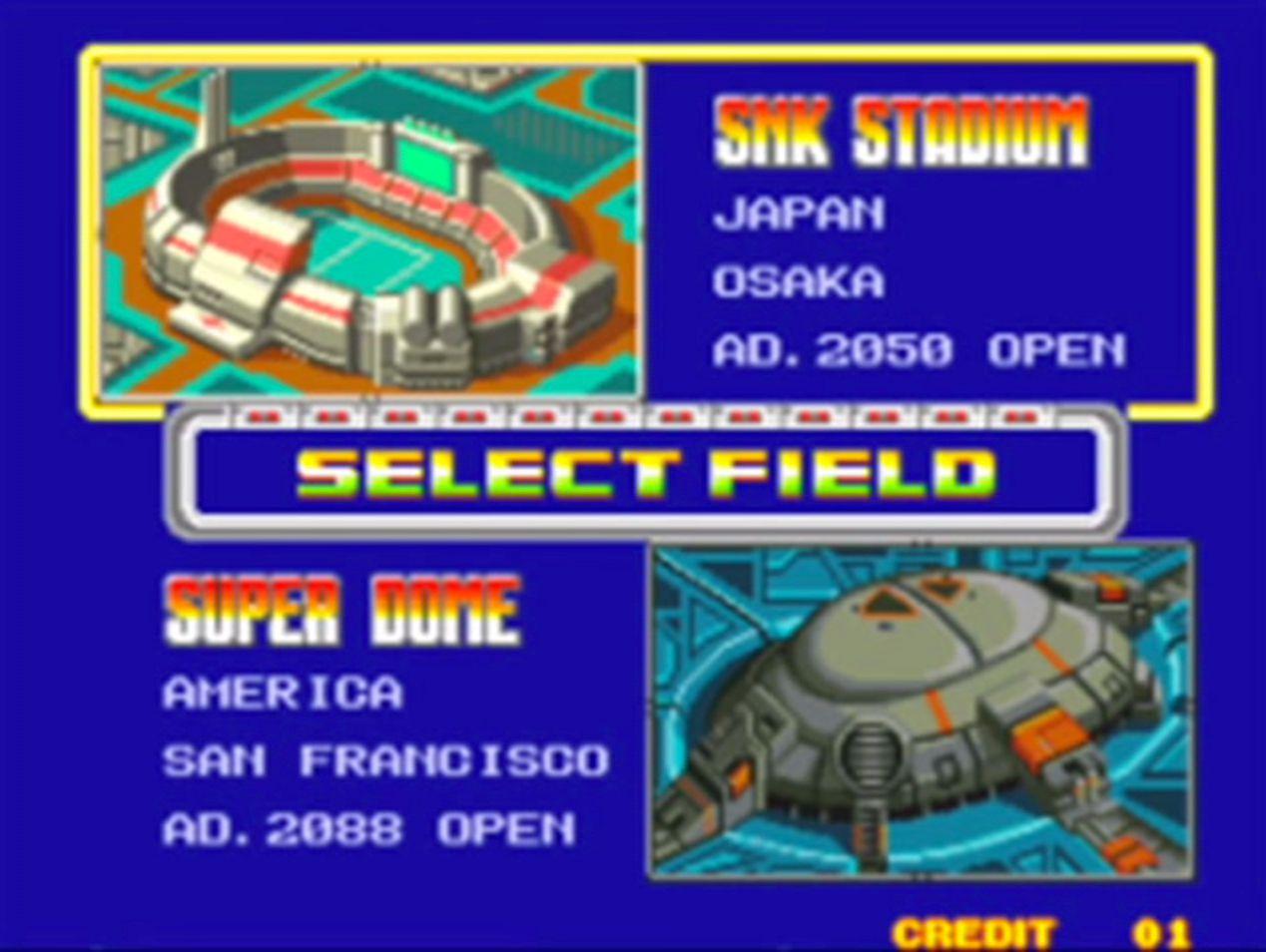 Les stades sont plutôt futuristes.