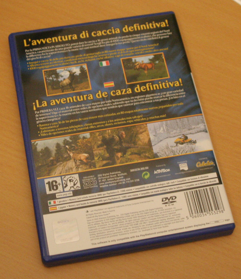 Cabela's Big Game Hunter 2005 Adventures sur Playstation 2.