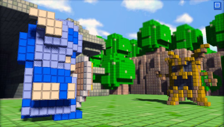 3D Dot Game Heroes sur Playstation 3.