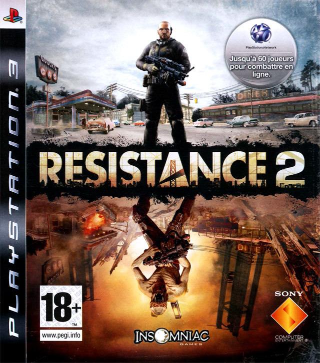 resistance 2 testé sur sony playstation 3 année de sortie 2008 style