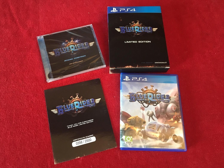 L'édition physique, collector, sur PS4, de Blue Rider, par Play Asia.
