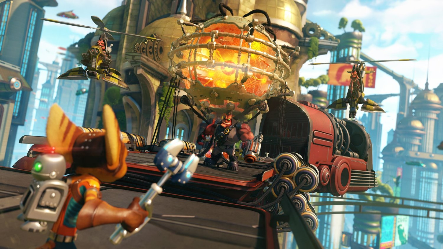Ratchet & Clank sur Playstation 4.