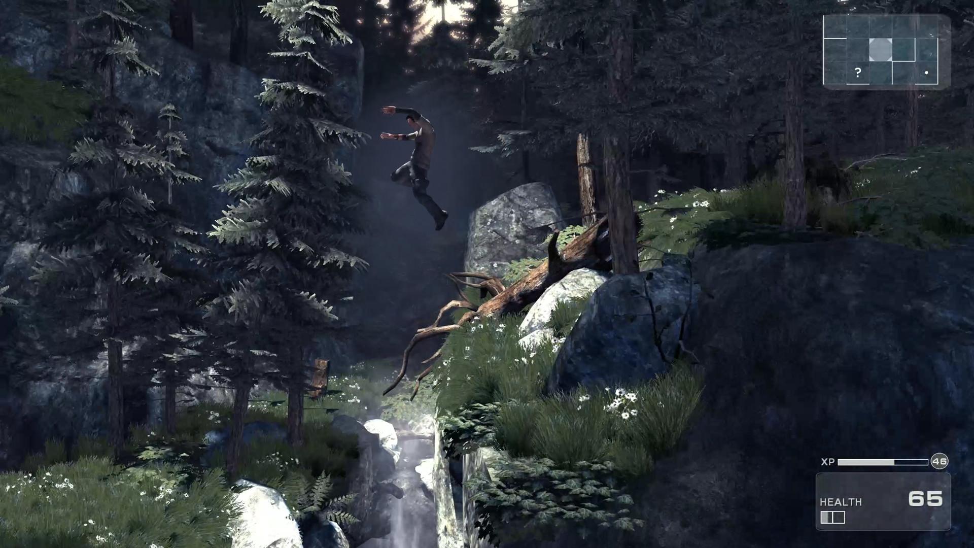 Les paysages extérieurs de Shadow Complex Remastered sont très sympas.