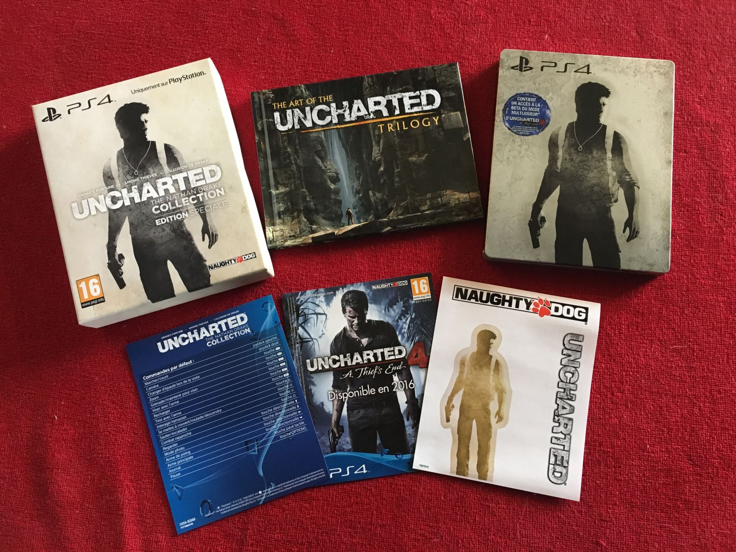 L'édition limitée de Uncharted The Nathan Drake Collection.