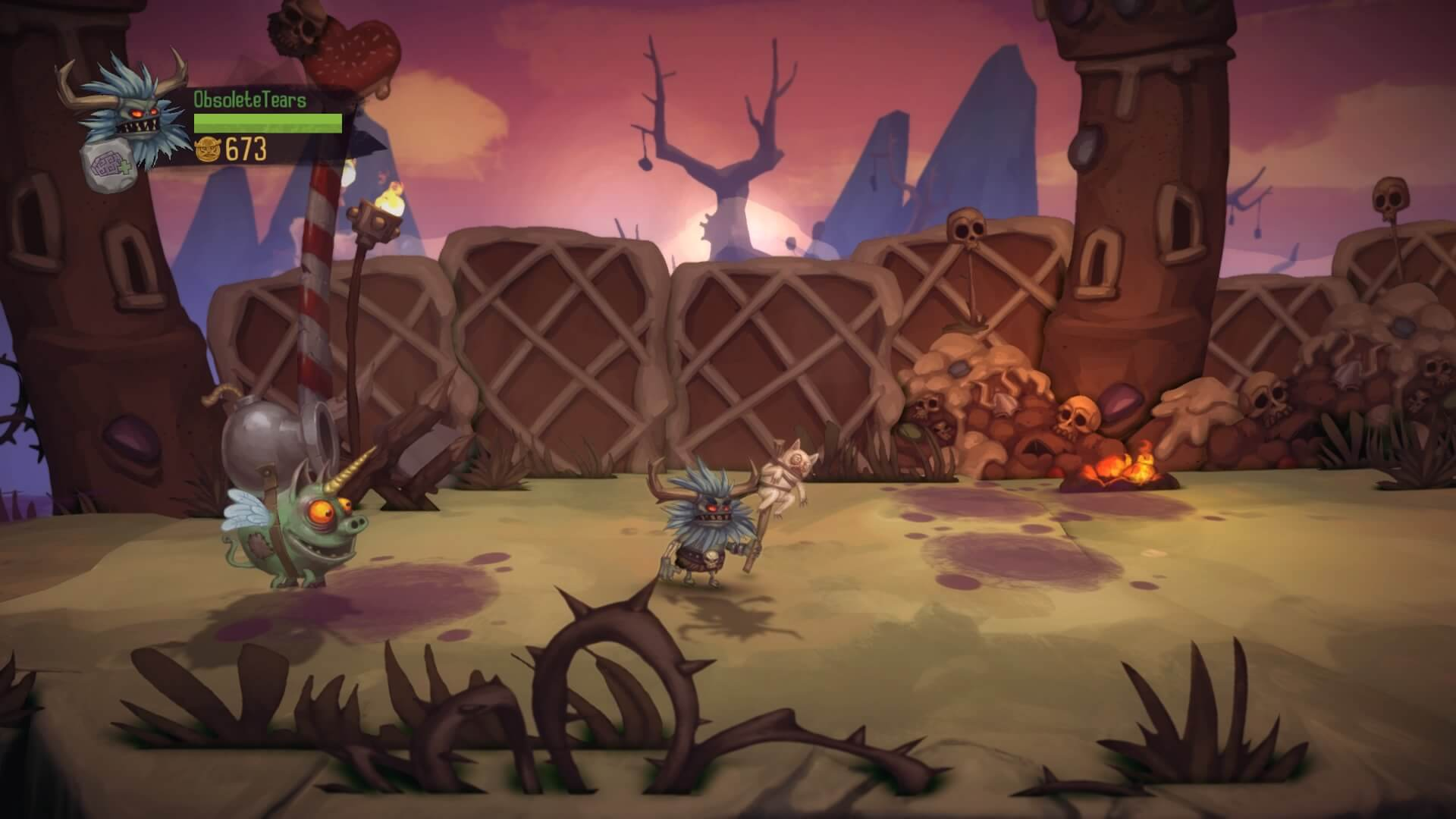 Graphiquement à l'image du jeu : totalement barré.