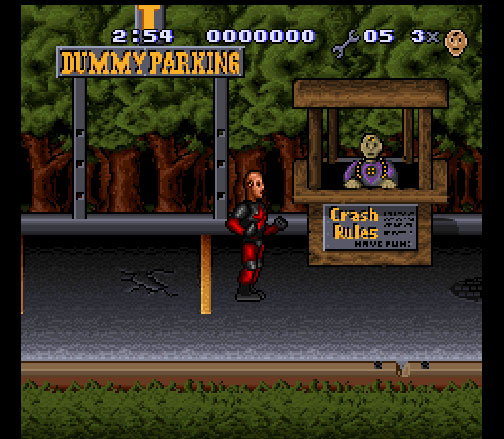 The Incredible Crash Dummies sur Super Nintendo.