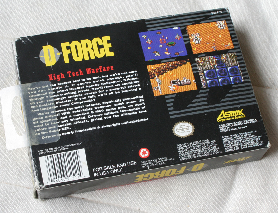 D-Force sur Super Nintendo.