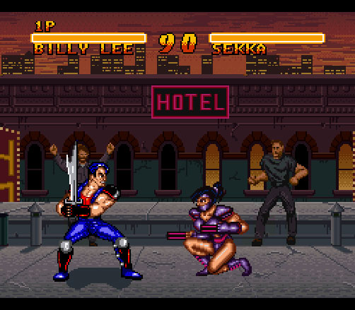 Double Dragon 5 sur Super Nintendo.