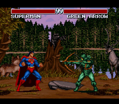Justice League Task Force sur Super Nintendo.