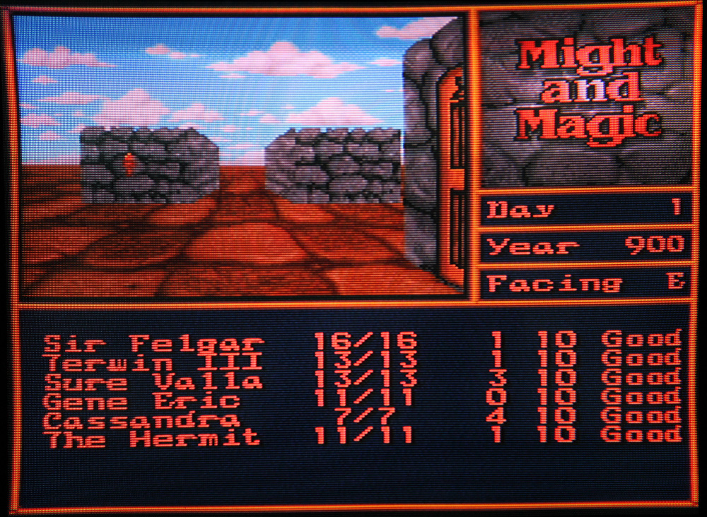 Might & Magic II sur Super Nintendo.