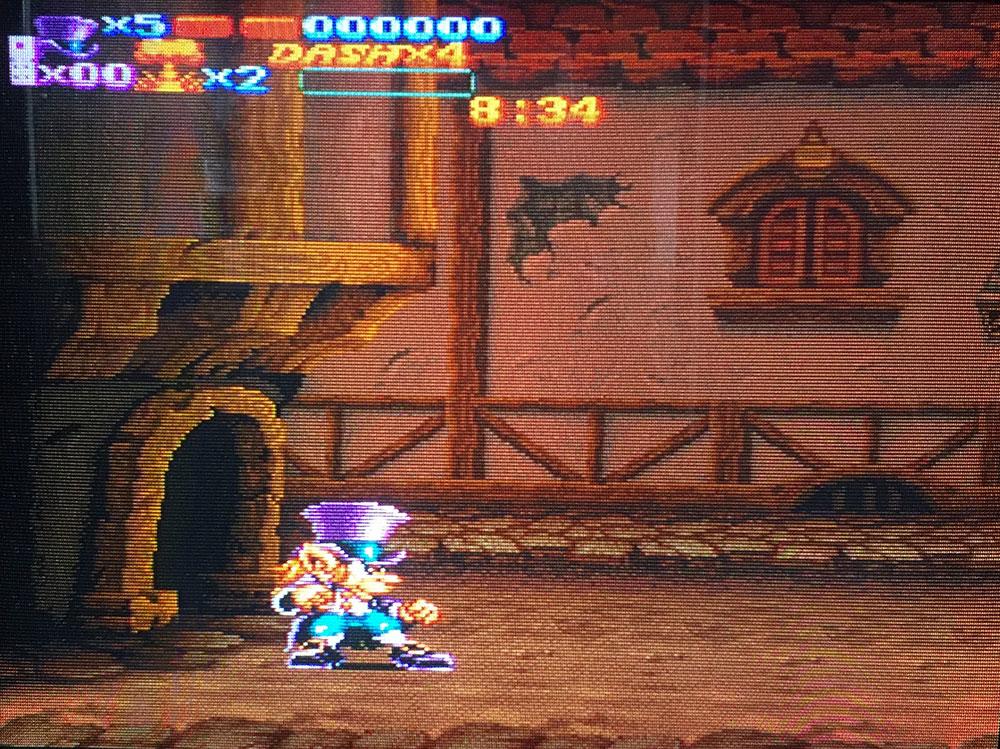 Nightmare Busters sur Super Nintendo.