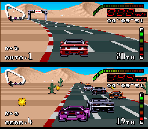 test de top gear sur nintendo super nintendo. Black Bedroom Furniture Sets. Home Design Ideas
