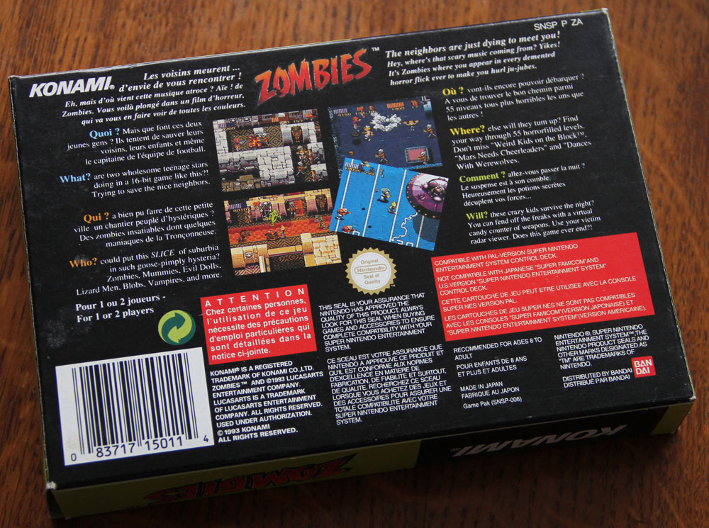 Zombies Ate My Neighbors sur Super Nintendo.