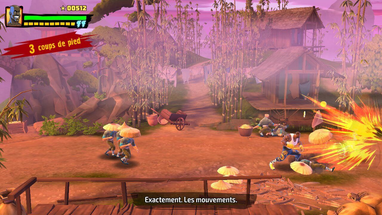 Le gameplay propose un beat'em all classique.